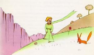 Le Petit Prince et le renard, Antoine de St Exupéry