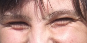 yeux rieurs