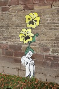 grafiti femme fleur CP Karim TATAI Strasbourg