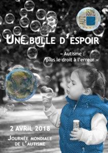 Affiche autisme France, journée mondiale de l'Autisme 2018
