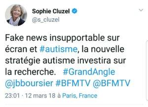 Twitt Sophie Cluzel sur les écrans et l'autisme